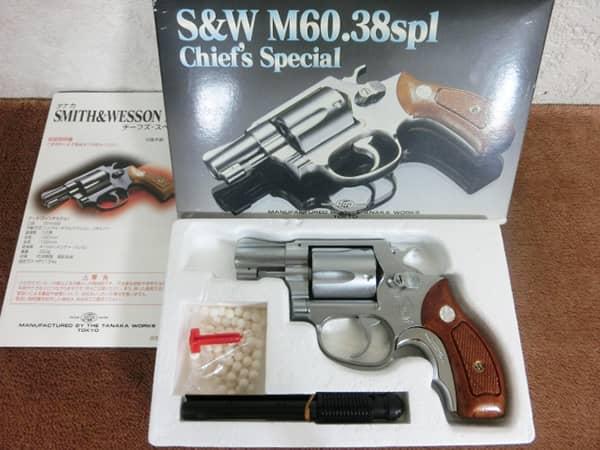 タナカ S&W M60 38spl チーフズスペシャル 買取