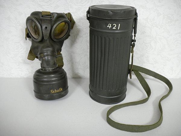 ドイツ軍 ナチス ガスマスク 収納缶 買取