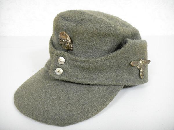 WW2 ドイツ軍 ナチス 帽子 野戦帽 買取